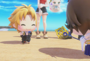 Rikku e la versione femminile di Ramuh in World of Final Fantasy