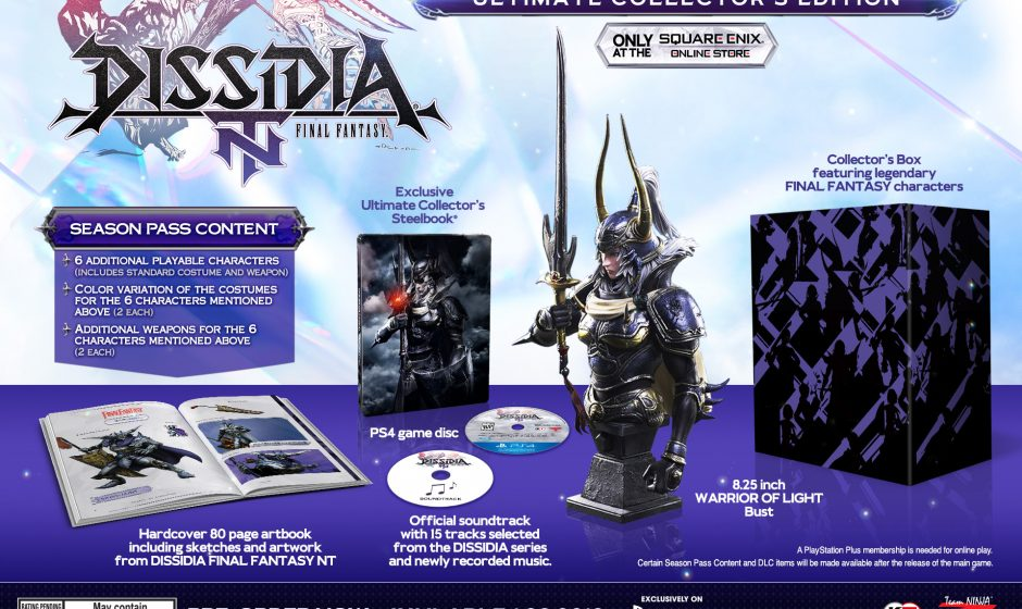 Data e collector's edition per Dissidia Final Fantasy NT