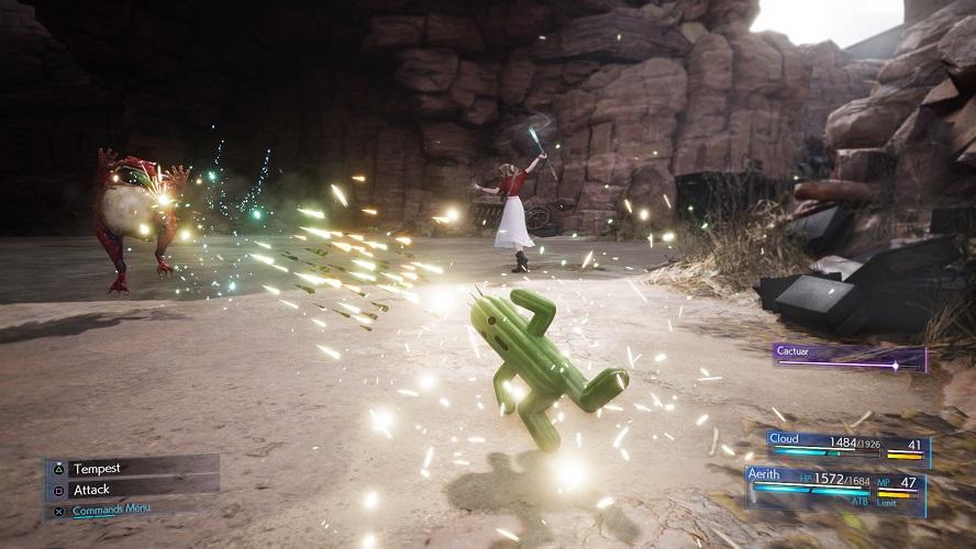 Final Fantasy VII: Chocobo, Cactuar e Carbuncle in azione
